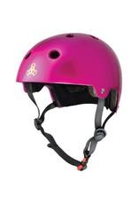 TRIPLE 8 Triple 8 Certified Pink Metallic Skateboard and Bike Helmet