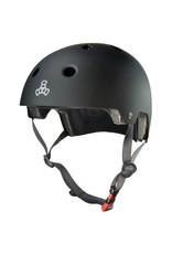 TRIPLE 8 Triple 8 Certified Black Rubber Skateboard and Bike Helmet