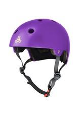 TRIPLE 8 Triple 8 Certified Purple Gloss Skateboard and Bike Helmet