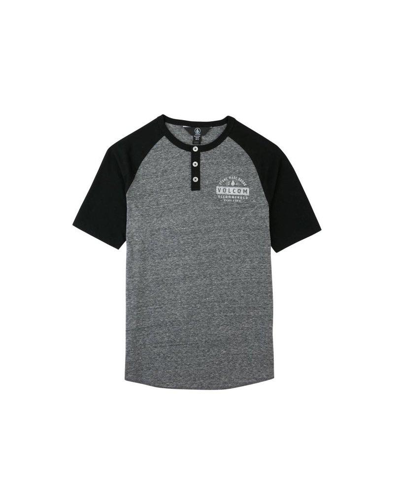 Volcom Banks Henley Black Kids T-Shirt