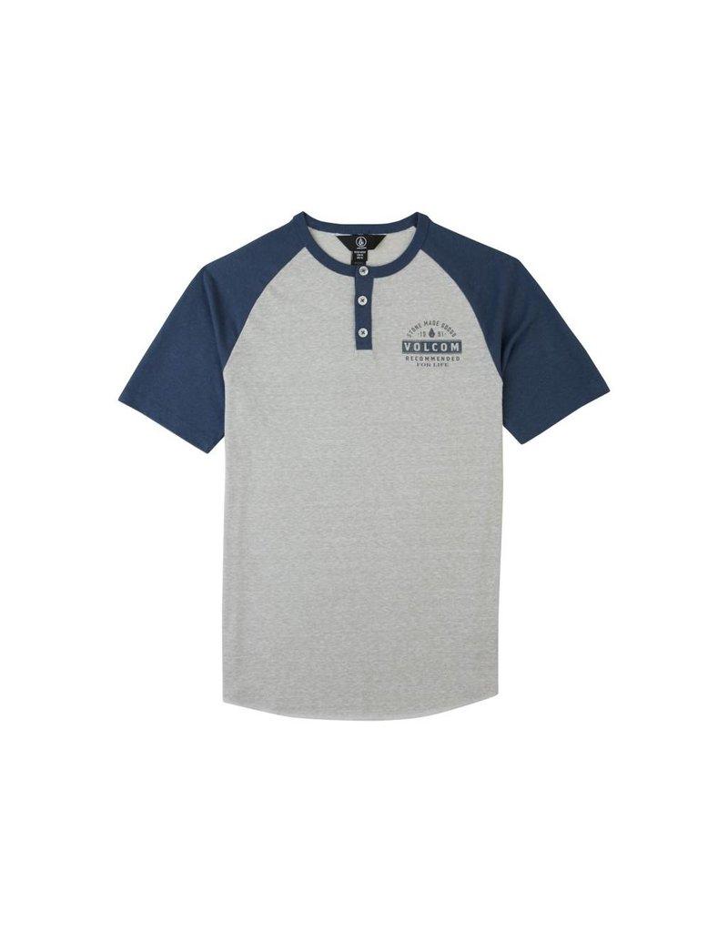 Volcom Banks Henley Deep Blue Kids T-Shirt
