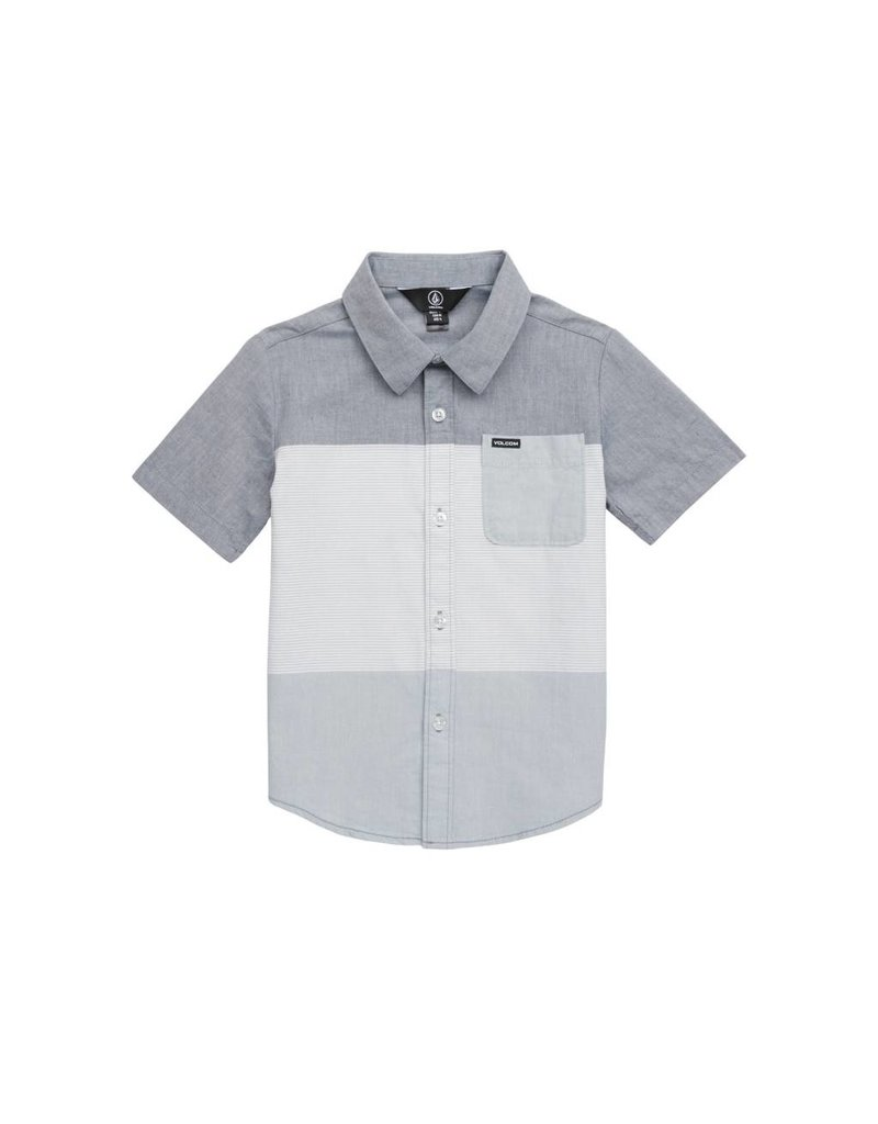 Volcom Crestone Button Up Deep Blue Toddler Shirt