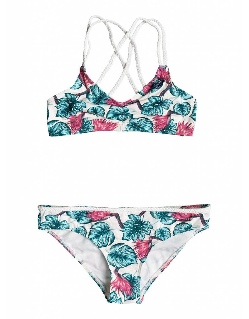 Roxy Beach Days Athletic Tri Set Marshmallow Abyssal Tropical