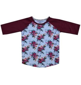 L&P L&P Raglan T Flower