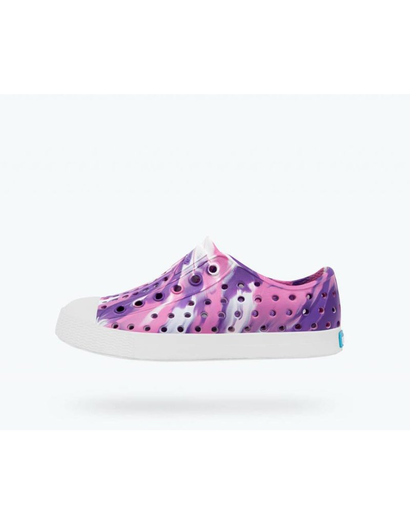 NATIVE Native Jefferson Marbled Jr - Starfish Purple - Kids Shoes