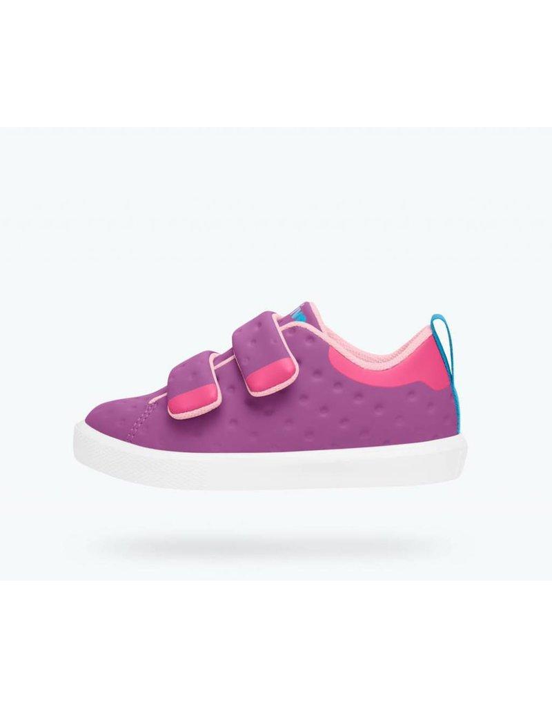 NATIVE Native Monaco Velcro Jr - Peace Purple - Kids Shoes