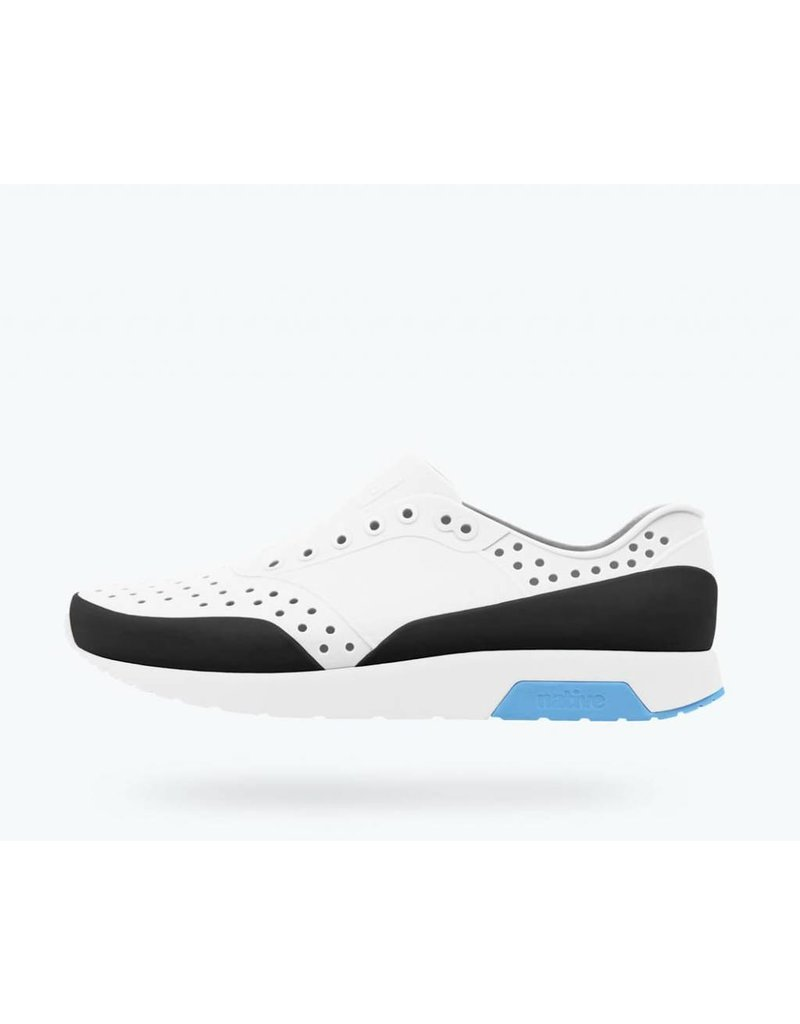 NATIVE Native Lennox Block Adult - White/White/Blue - Adult Shoes