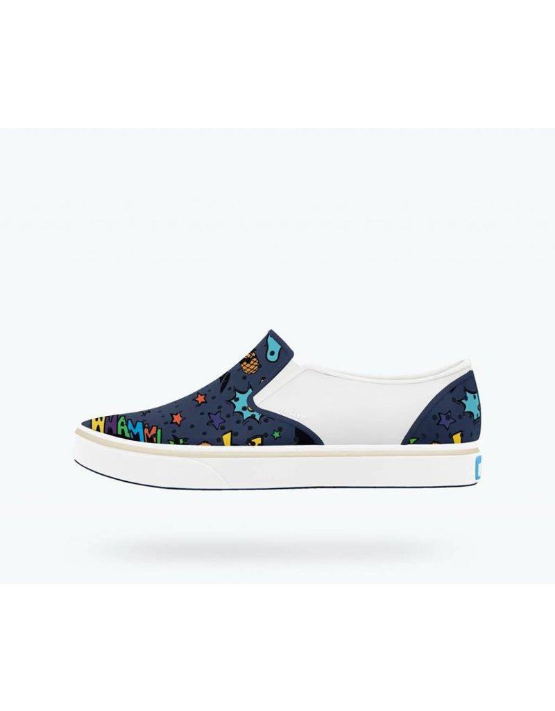 NATIVE Native Miles Print Child - Regatta Blue - Toddler Shoes
