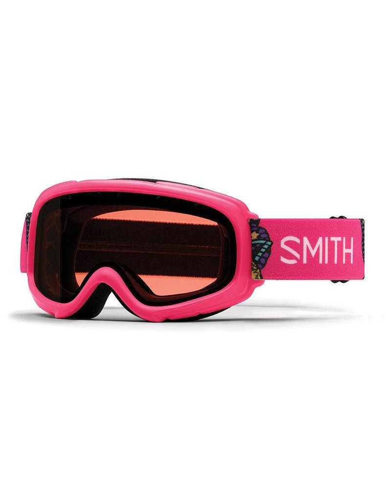 SMITH Smith Gambler Jr. Snow Goggle Pink Butterflies