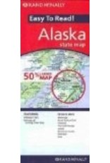 Map - Rand Mcnally Easy to Read Alaska State Map - Rand McNally