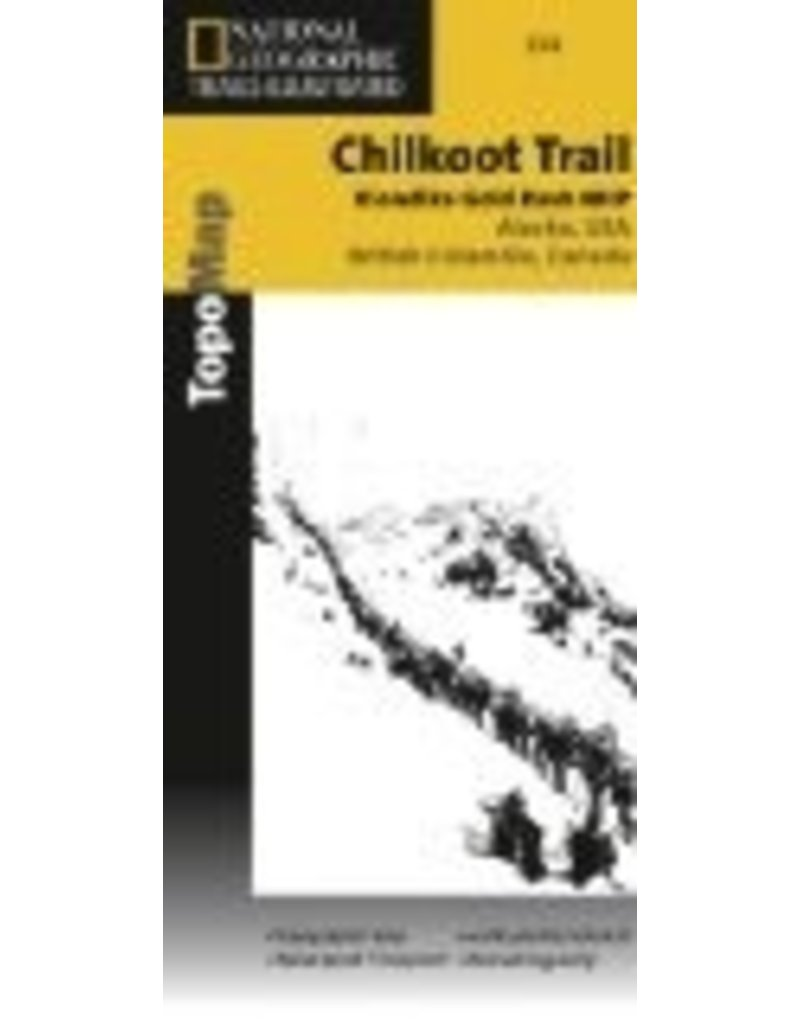 Map - Chilkoot Trail/Klondike Gold Rush, AK (Nat. Geo.) - National Geographic Trails Ill