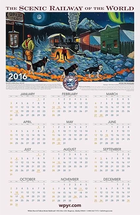 2019 WP & YR Calendar/Poster w/mailing tube