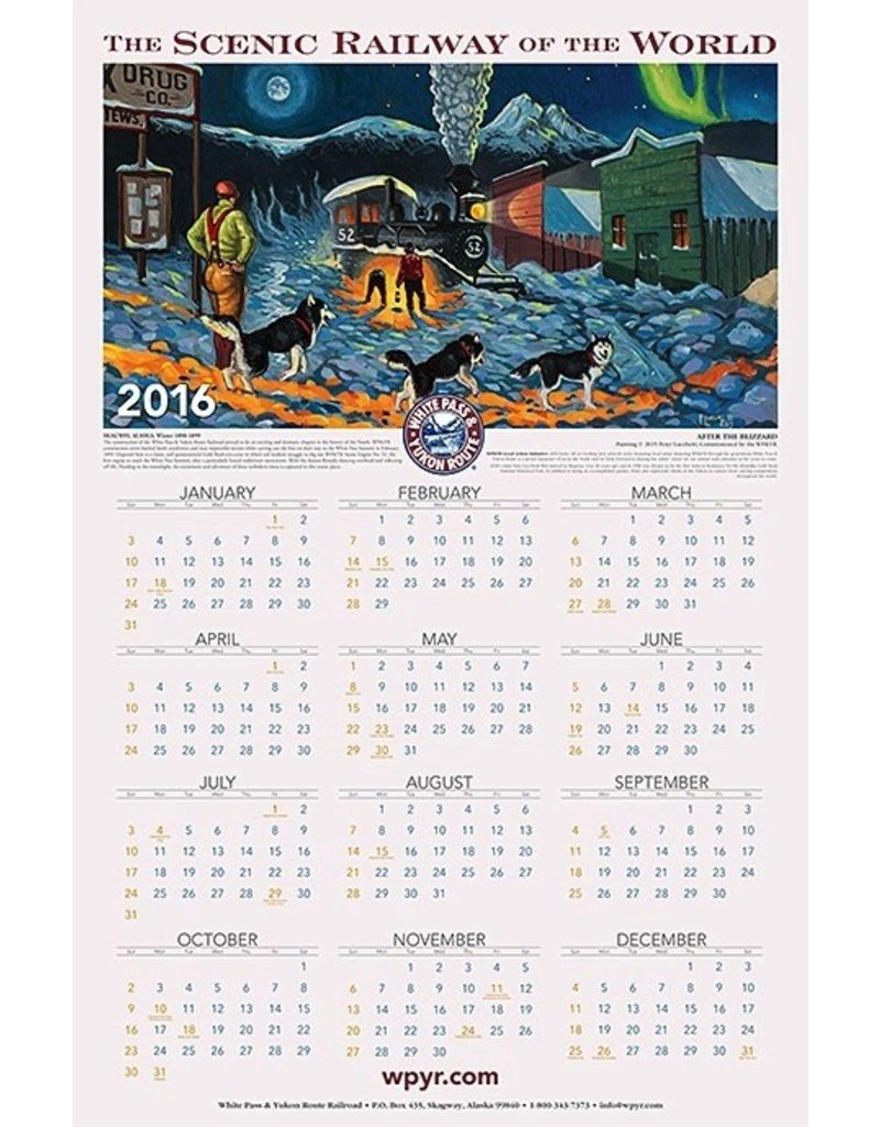 2018 WP & YR Calendar/Poster w/mailing tube