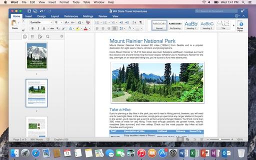 Microsoft Microsoft Office MAC Home and Student 2016 English Medialess - 1 Mac