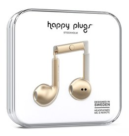 Happy Plugs Happy Plugs Deluxe Earbud Plus with Remote & Mic - Champagne Gold