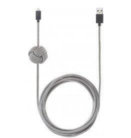 Native Union Native Union 3M USB to Lightning Knot Night Cable - Zebra