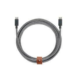 Native Union Native Union 2.4M Belt USB-C to USB-C Cable - Zebra