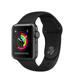 Apple Apple Watch Series 1 38mm Space Gray Aluminum Case with Black Sport Band