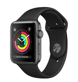 Apple Apple Watch Series 3 GPS 42mm Space Grey Aluminium Case with Black Sport Band