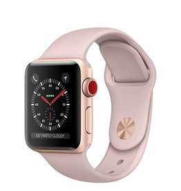 Apple Apple Watch Series 3 GPS + Cellular 38mm Gold Aluminium Case with Pink Sand Sport Band