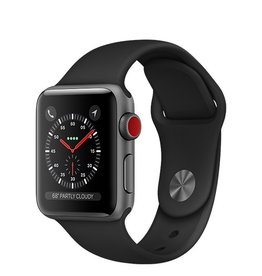 Apple Apple Watch Series 3 GPS + Cellular 38mm Space Grey Aluminium Case with Black Sport Band
