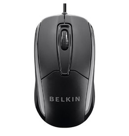 Belkin Belkin Wired USB Ergonomic Mouse - Black