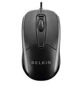 Belkin Belkin Wired USB Ergonomic Mouse - Black