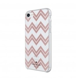 kate spade new york kate spade Hardshell Case for iPhone 8/7/6 - Chevron / Rose Gold Glitter