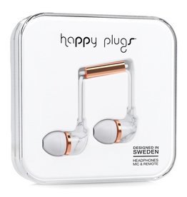 Happy Plugs Happy Plugs In-Ear with Remote & Mic - White Carrara Marble
