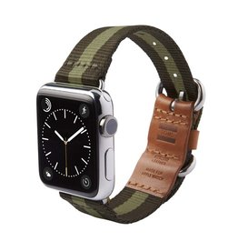 TOMS TOMS Apple Watch 42mm Utility Band -Green Stripe