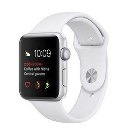 Apple Apple Watch Series 1 42mm Silver Aluminum Case with White Sport Band
