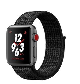 Apple Apple Watch Nike+ GPS + Cellular 38mm Space Grey Aluminium Case with Black/Pure Platinum Nike Sport Loop
