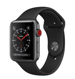 Apple Apple Watch Series 3 GPS + Cellular 42mm Space Grey Aluminium Case with Black Sport Band