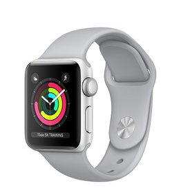 Apple Apple Watch Series 3 GPS 38mm Silver Aluminium Case with Fog Sport Band