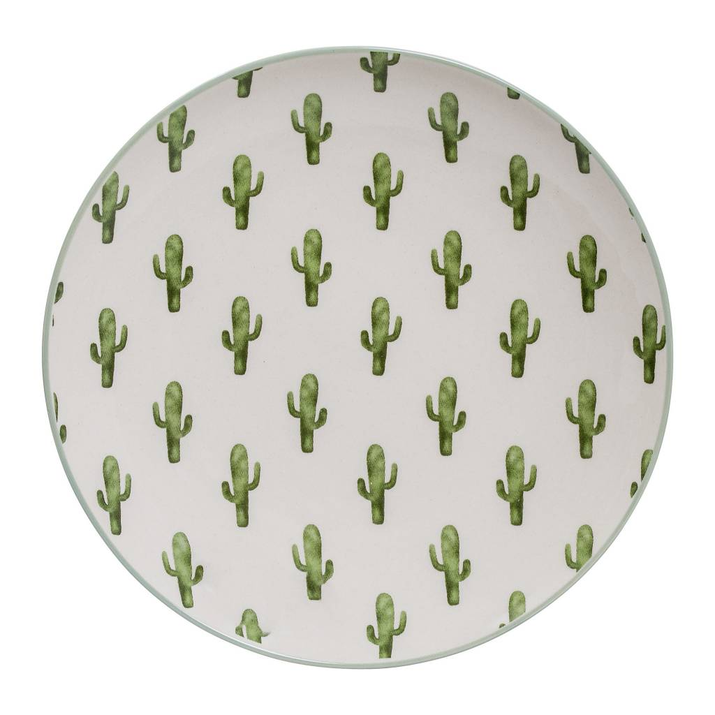 Design Home Assiette Ronde Cactus
