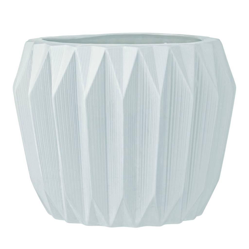 Design Home White Flute Vase – large