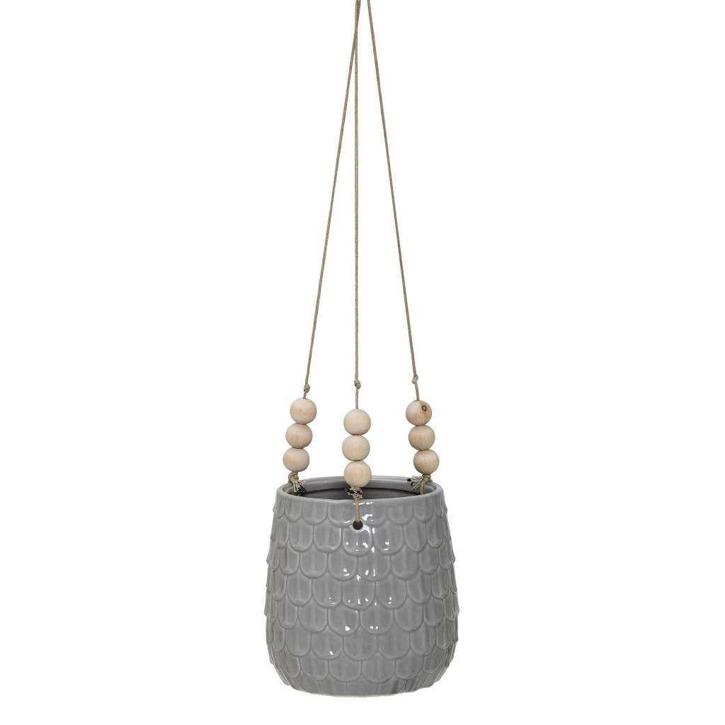 Design Home Grey Textured Flower Pot