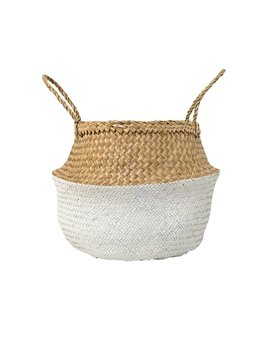 Design Home Grand Panier Seagrass Blanc