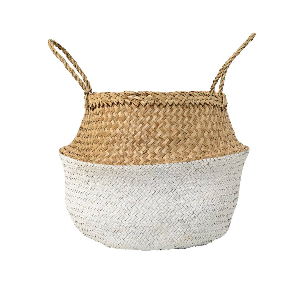 Design Home Seagrass Large White Basket