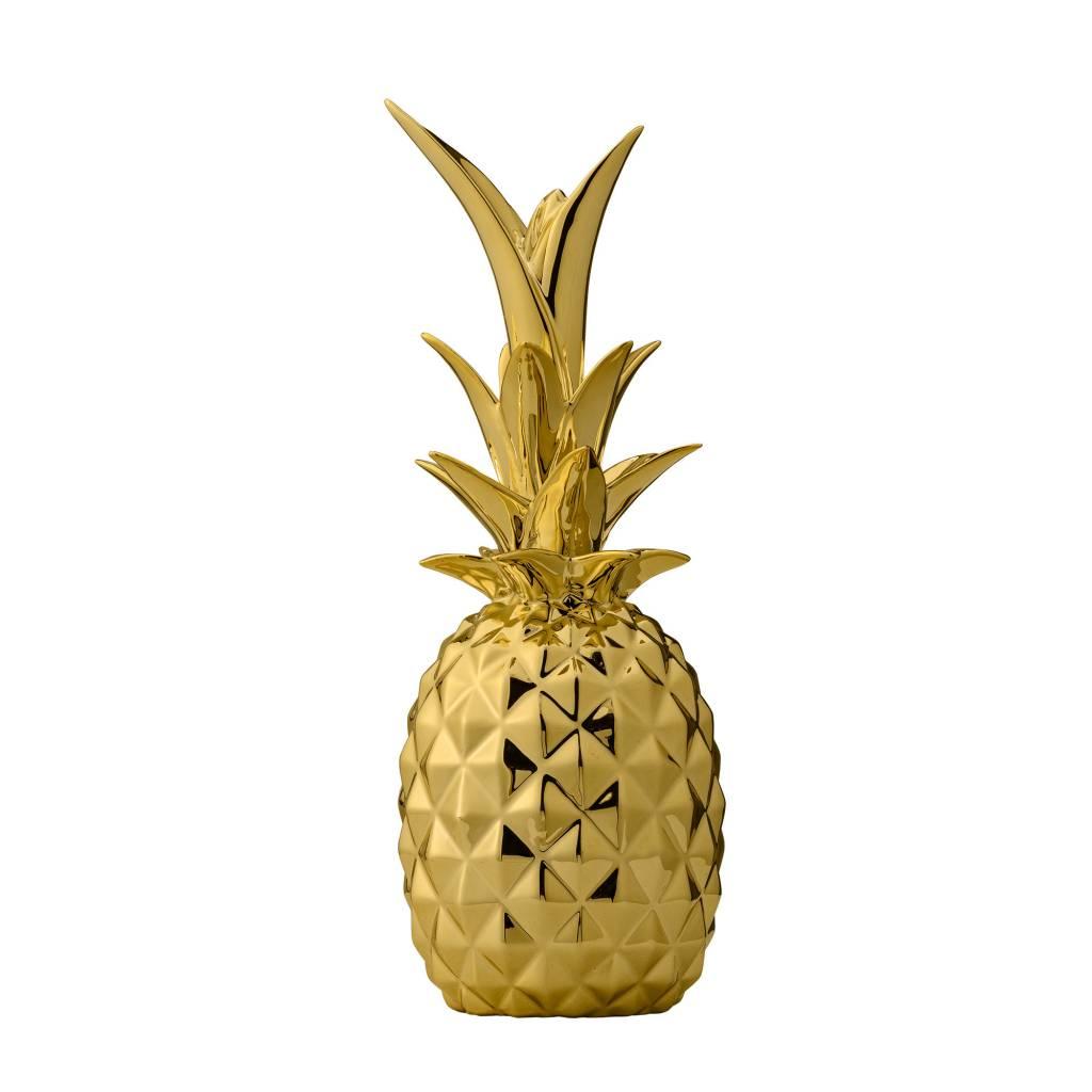 Design Home Ananas Céramique Or
