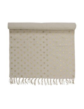Design Home Tapis Naturel Pois Or