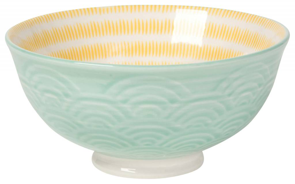 Waves Small Bowl Aqua