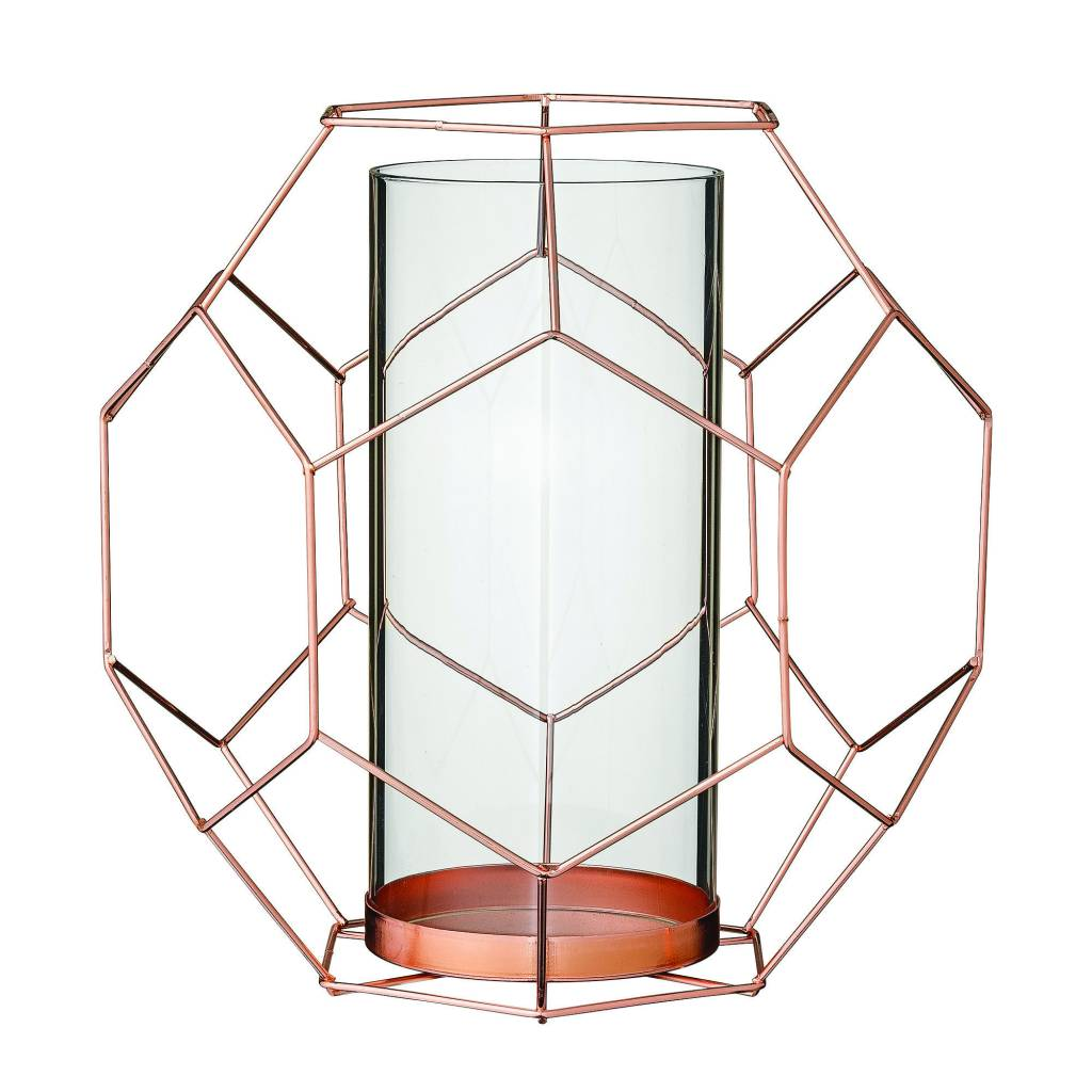 Bloomingville Geo Candlestick Copper