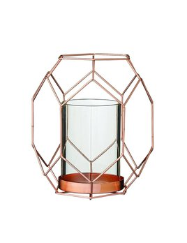 Bloomingville Copper Geo Candlestick