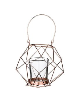 Bloomingville Geo Copper Small Candlestick
