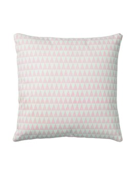 Bloomingville Pink Triangles Pillow