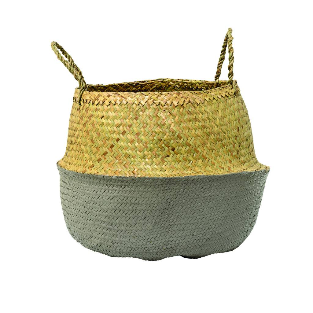 Bloomingville Grey Seagrass Basket Large