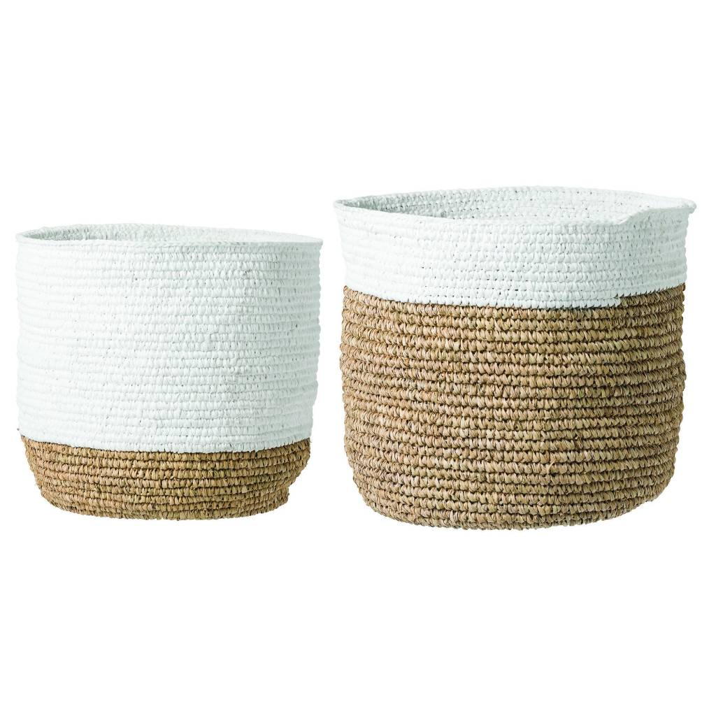 Bloomingville Raffia Basket Tall