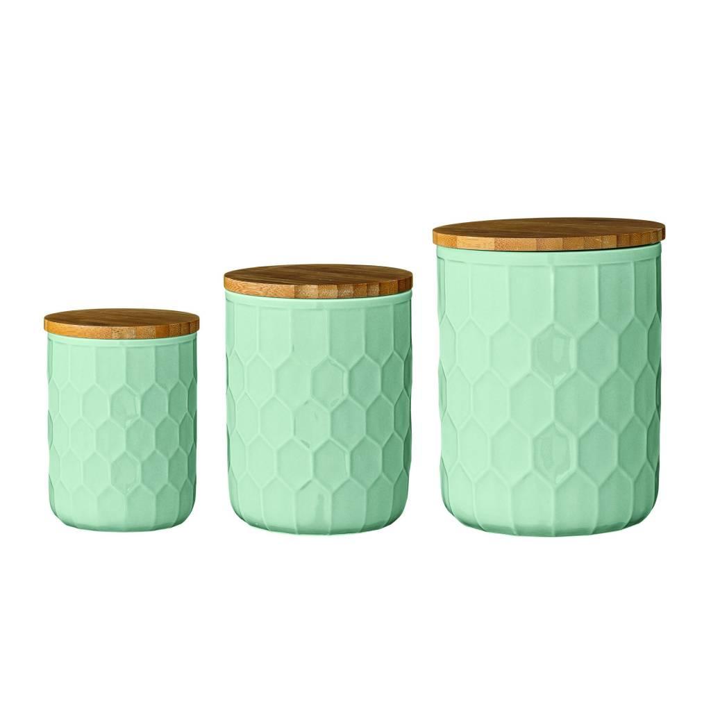 Bloomingville Round Mint Ceramic Jar tall