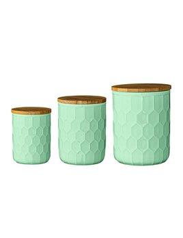 Bloomingville Round Mint Ceramic Jar medium